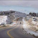 Por hielo, cortaron el camino de las altas cumbres
