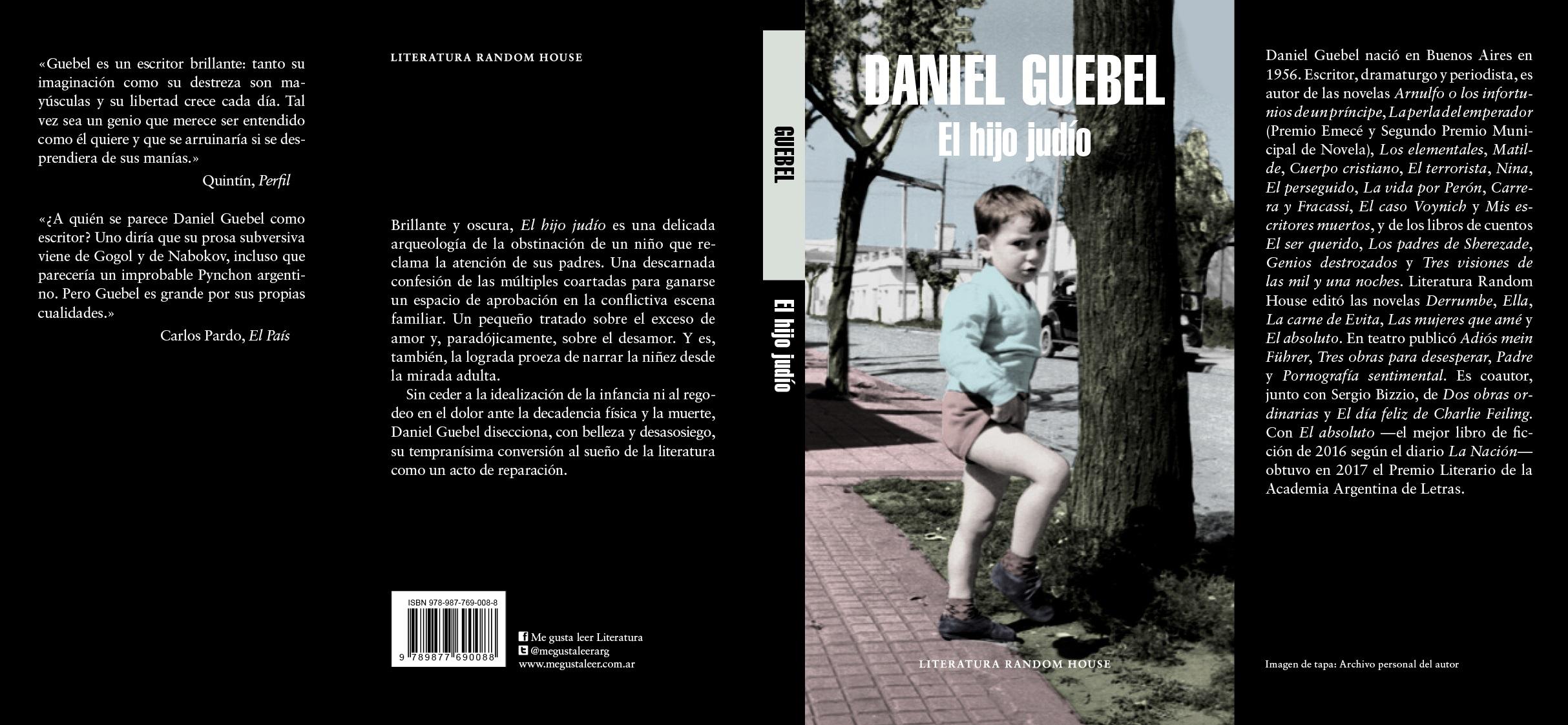 Resultado de imagen para El hijo judío, de Daniel Guebel